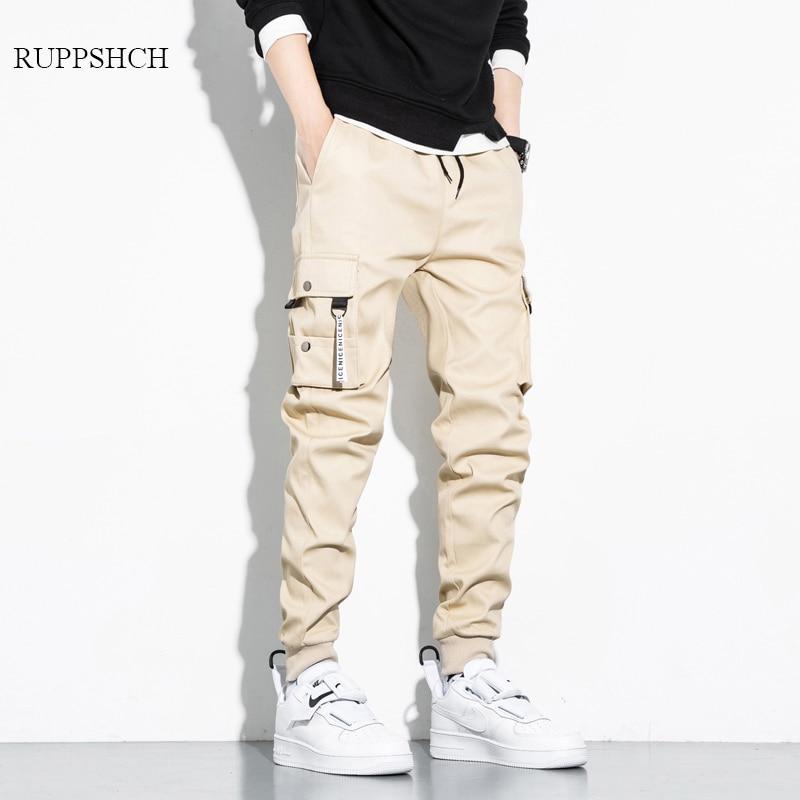 Брюки-карго мужские однотонные, чистый хлопок, стиль хип-хоп, много карманов, спортивные размера плюс, повседневные штаны, 8Xl