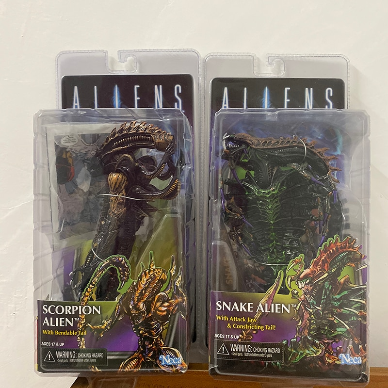 Scorpion Figure NECA 13th Lineup Aliens VS Predator Scorpion Snake Alien Sgt Apone Snake Action Figure Toy