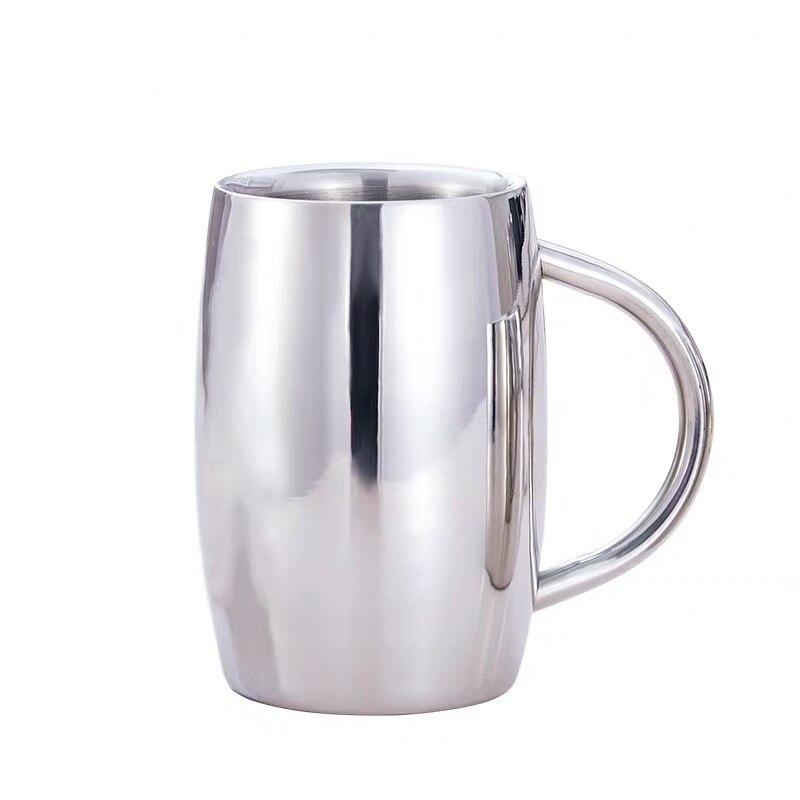 Jarra de cerveza de doble pared de acero inoxidable vaso aislante taza de café taza de té taza de beber tasse caneca criativa cereza 300 ml 430 ml