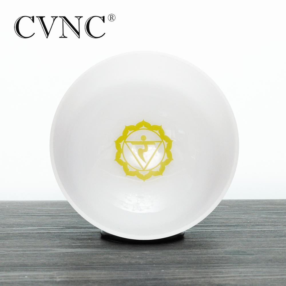 Padrão de Energia Nota e Plexo Cristal de Quartzo Tigela para Meditações Cvnc Chakra Design Solar Fosco Cantando 8