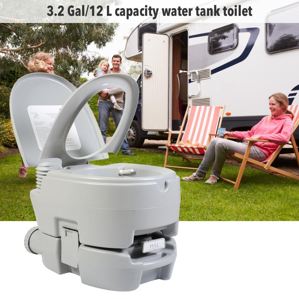 Inodoro portátil, botón pulsador, inodoro cómodo, inodoro para viaje, Camping, senderismo, viaje al aire libre, Dropship