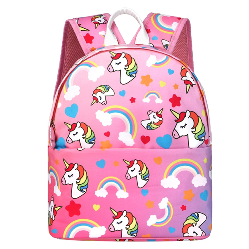 Школьные сумки с единорогом для девочек и мальчиков, Детские рюкзаки, рюкзаки для детского сада, милые картонные школьные сумки, рюкзаки для...