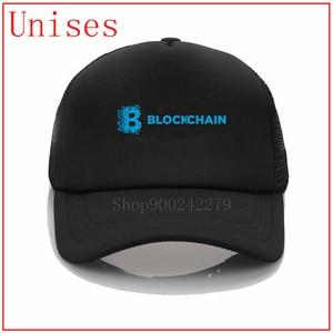 2020 new fashion Custom Embroidery bitcoin Blockchain Curved Dad Hat Beach holiday Baseball Cap Hat Strapback Hip Hop Cap Golf
