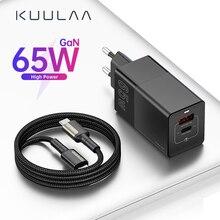Chargeur KUULAA GaN chargeur rapide 4.0 3.0 USB Type C QC PD 65W chargeur USB Portable chargeur rapide pour iPhone Xiaomi ordinateur Portable tablette