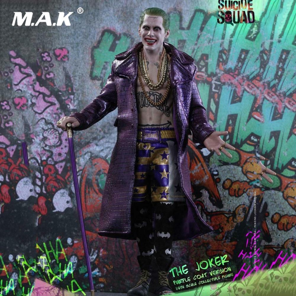 1/6 juego completo coleccionable HOTTOYS MMS382 escuadrón suicida Joker (abrigo púrpura Ver.) Figura de lujo. Modelo para regalos de Fans