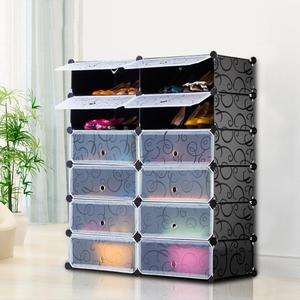 Transparent shoe box storage shoe boxes thickened dustproof shoes organizer box superimposed combination shoe cabinet HWC