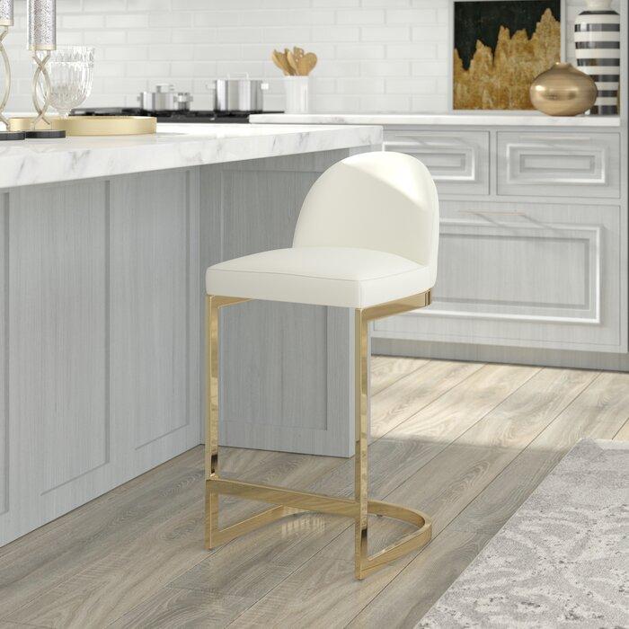 Лидер продаж, кожаный барный стул с рамой из нержавеющей стали, удобный барный стул, кухонный бар, мебель для столовой, ресторана