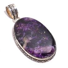 Véritable pendentif en argent Cheorite sur cuivre fait à la main nature bijoux en pierres précieuses cadeau, P8646