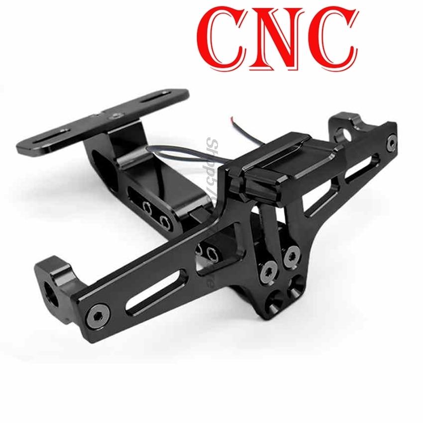 cover CNC Aluminum Motorcycle License Registration Plate Holder For Belly Pan Ducati 796 Gl1800 Cbr 600 Rr Virago 535 Ducati 748