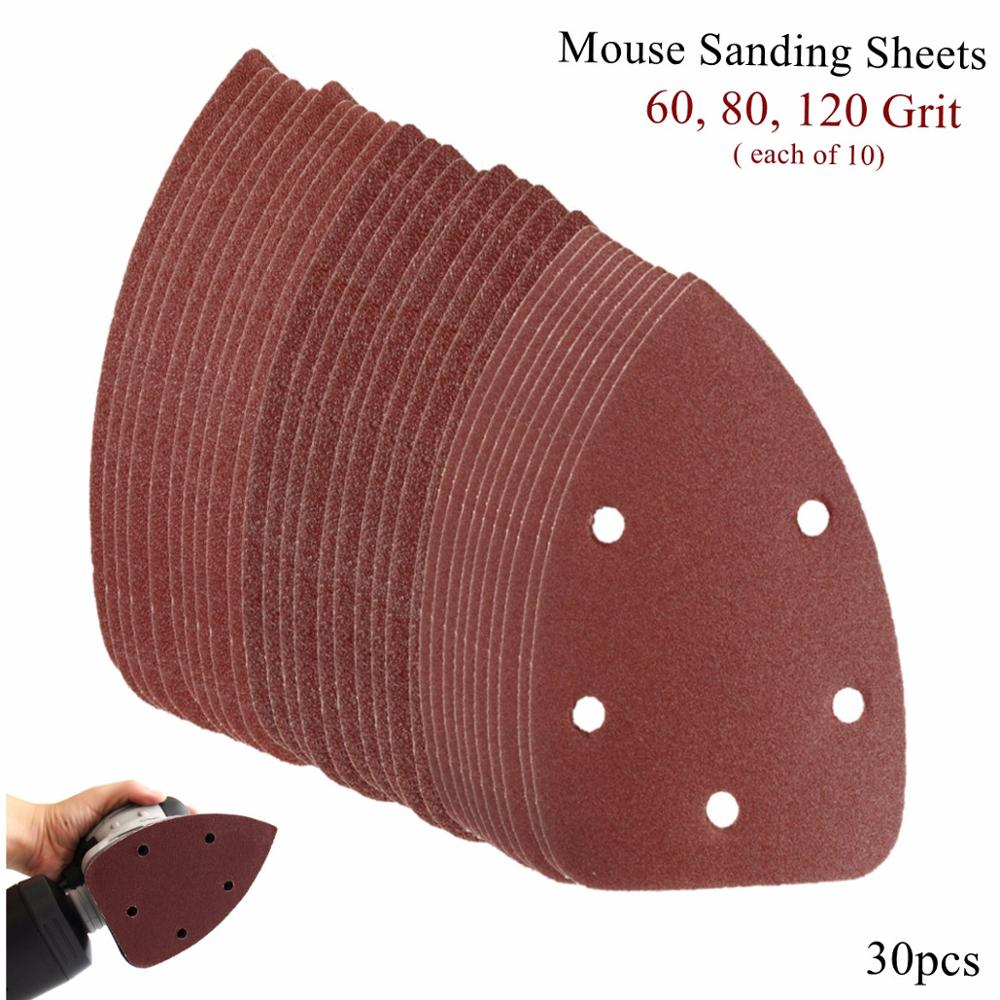 30pcs 60 + 80 + 120grid disc sandpaper for 140mm fine sanding machine to polish and grind tools