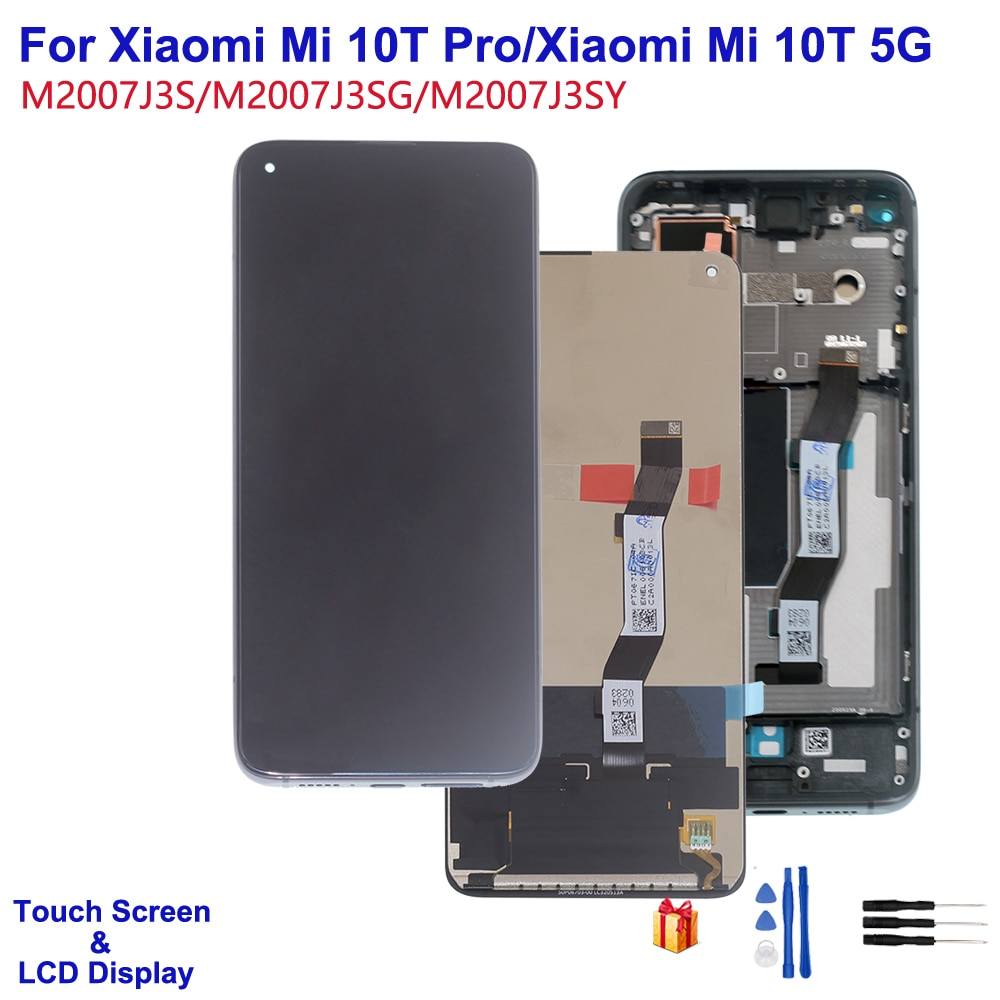 Original For Xiaomi Mi 10T 5G Touch Screen LCD Display Digitizer Assembly For Xiaomi Mi 10T Pro LCD M2007J3 For Redmi k30s недорого