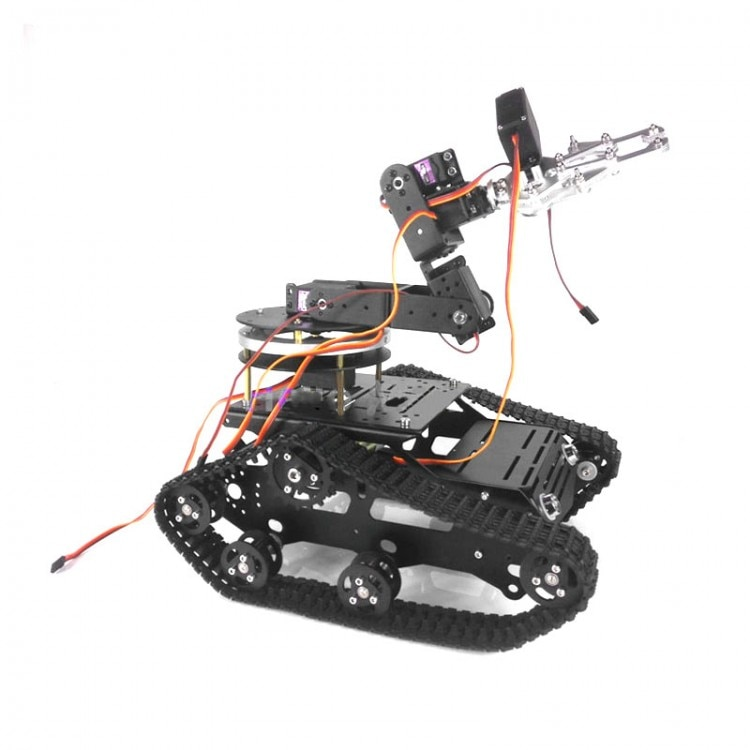 TR300 Tank Car+6 DOF Mechanical Arm CL-1 Claw + MG996R Servos with Gimbals Base