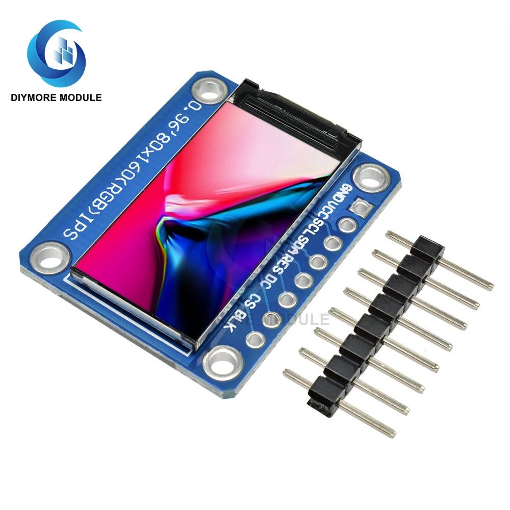 0,96 дюймов IPS ЖК дисплей Дисплей модуль полный Цвет Экран ST7735S водителя последовательный интерфейс SPI 3,3 релейный модуль для Arduino