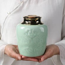 Keramik Glas Kleine Dinge Lagerung Boxen Tee Glas China Traditionellen Tee Box Gewürze Tank Dosen Hause Tee Glas Einfach Zu tragen Tank Dosen