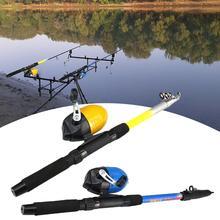 1,8 m caña de pescar ligera caña telescópica carrete de tambor línea de pesca equipo de herramientas