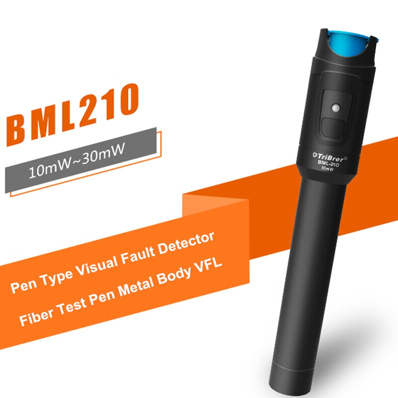 TriBrer BML210 10KM 20KM 30MW VFL Fiber Optic Visual Fault Detector Pen 10MW 20MW 30km Visual Fault Locator enlarge