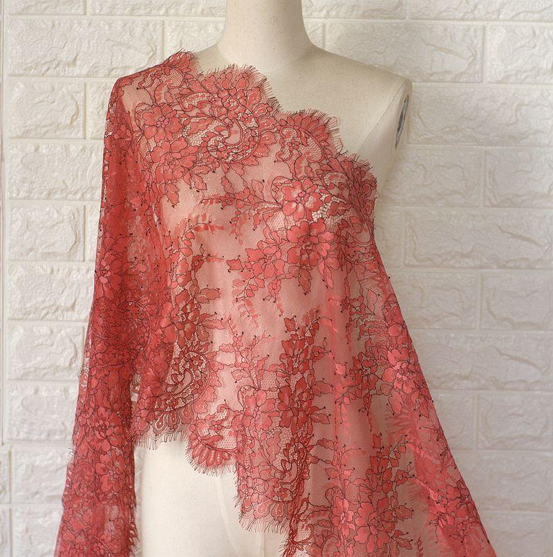 20Color Can Choose  Eyelash Lace Fabric  DIY Skirt Dress Underwear Fabric Lace Trim  3meters / Lot