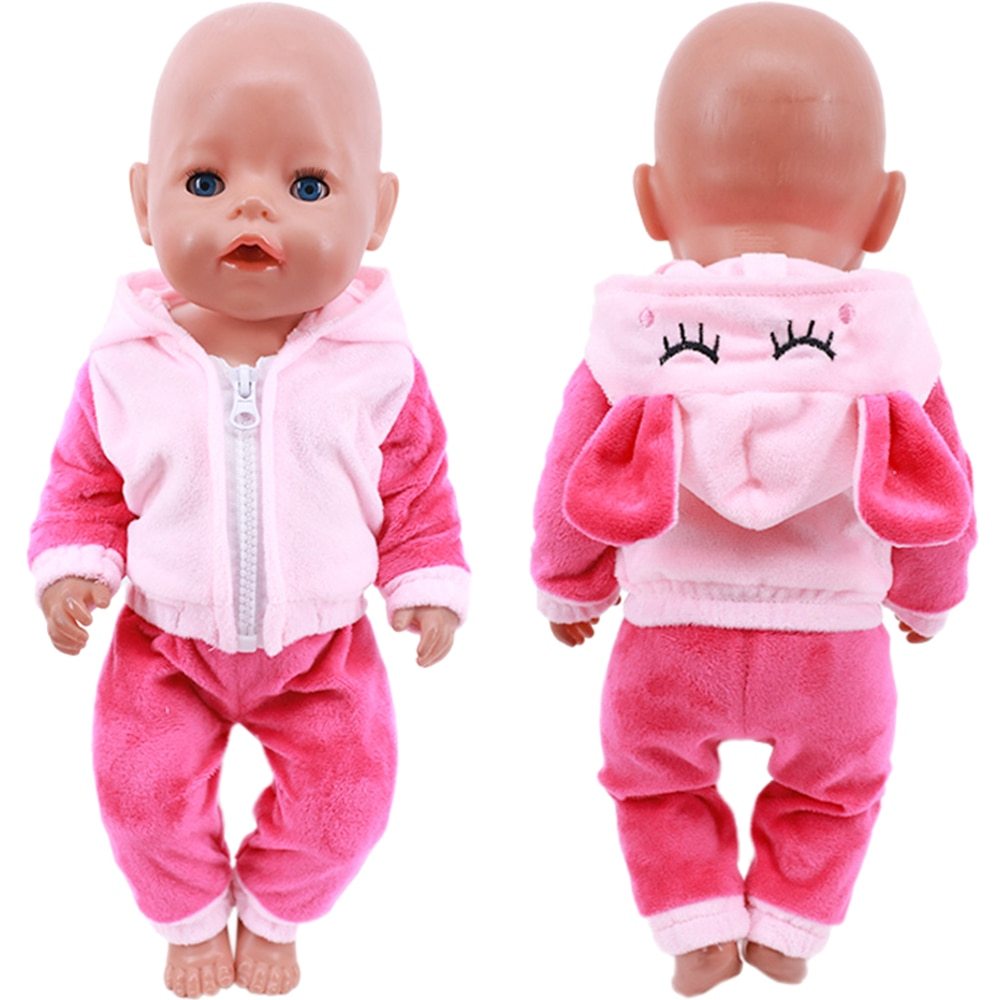 Cute Animal Embroidery Doll Clothes For 18 Inch American Doll Girl Toy 43 cm Born Baby Clothes Accessories Our Generation Nenuco doll accessories cute pajamas nightgown clothes for 18 inch american girl boy doll our generation