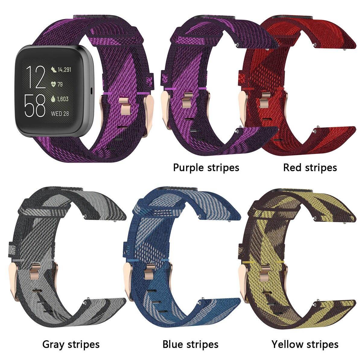 Correa de Nylon para Fitbit Versa 2 pulsera 23mm correa de reloj inteligente para Fitbit Versa correa de repuesto