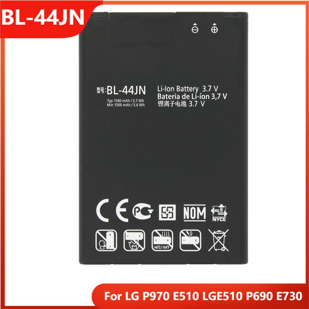 Оригинальная Аккумуляторная батарея для телефона, телефон LG P970 E510 LGE510 P690 E730, запасные аккумуляторные батареи 1540 мАч