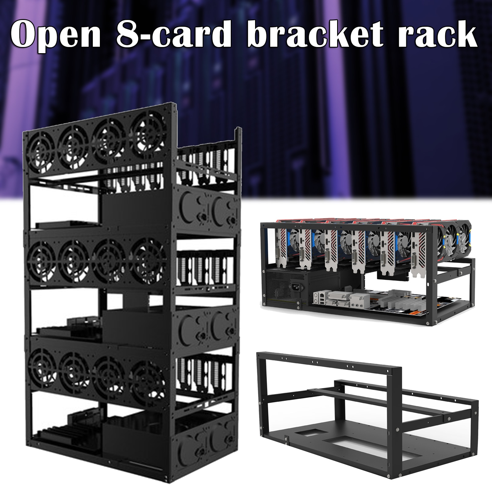 Mining Case Rack Motherboard Bracket Open Mining Rig Frame ETH/ETC/ZEC Ether Accessory Tools for 6 GPU