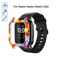 printing full edge pc smart watch protective case for xiaomi haylou solar ls02 screen protector case smart accessories