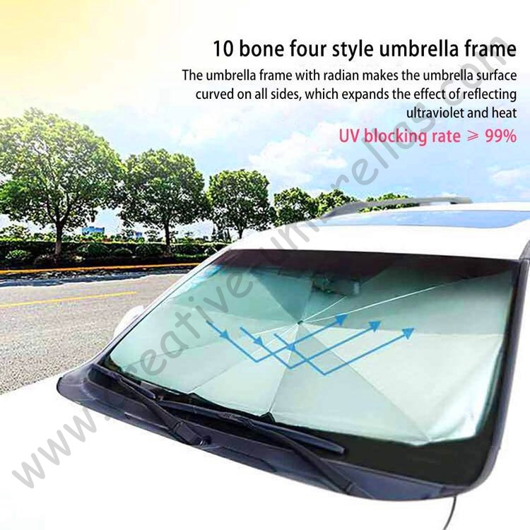 Potente miniparasol anti-uv de aislamiento térmico, protección personal, protección contra truenos, fibra de vidrio, enfriamiento, paraguas de protección solar multiuso para coche