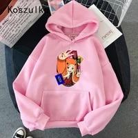 kakegurui runa yomozuki hoodies anime long sleeved pullovers tops sweatshirt women kawaii hoodies japanese casual long sleeve
