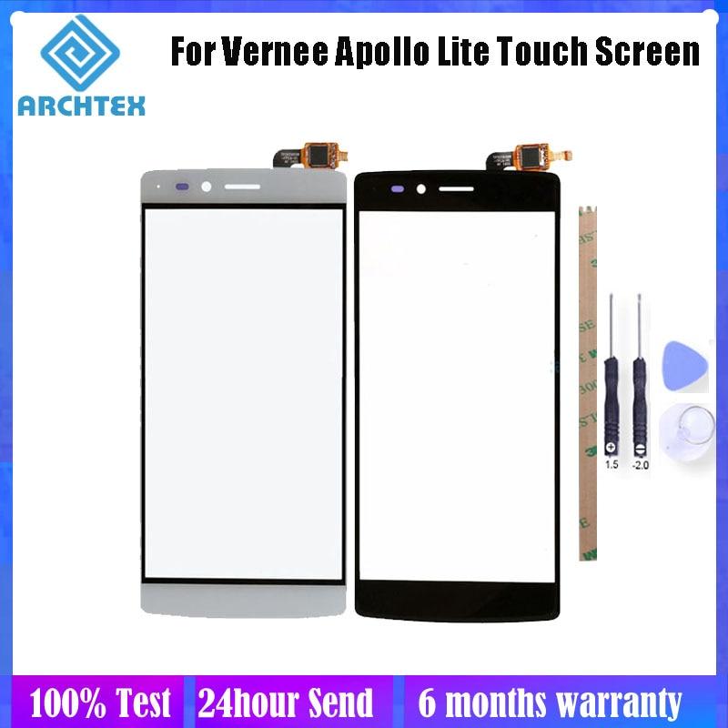Panel de pantalla táctil Vernee Apollo Lite de 5,5 pulgadas, piezas de reparación perfectas de vidrio con herramientas de reemplazo del Sensor del digitalizador