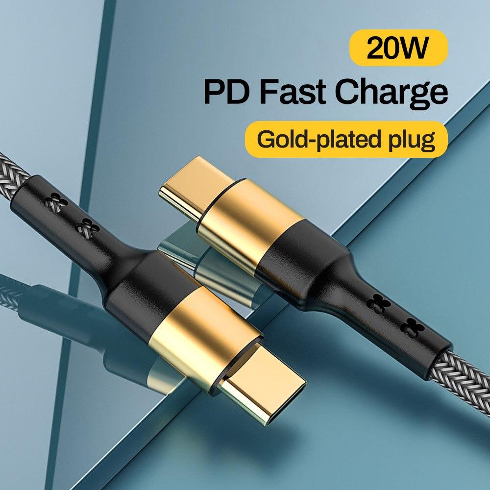 Tomtif-Cable USB de 1,2 m PD tipo C a tipo C, macho...