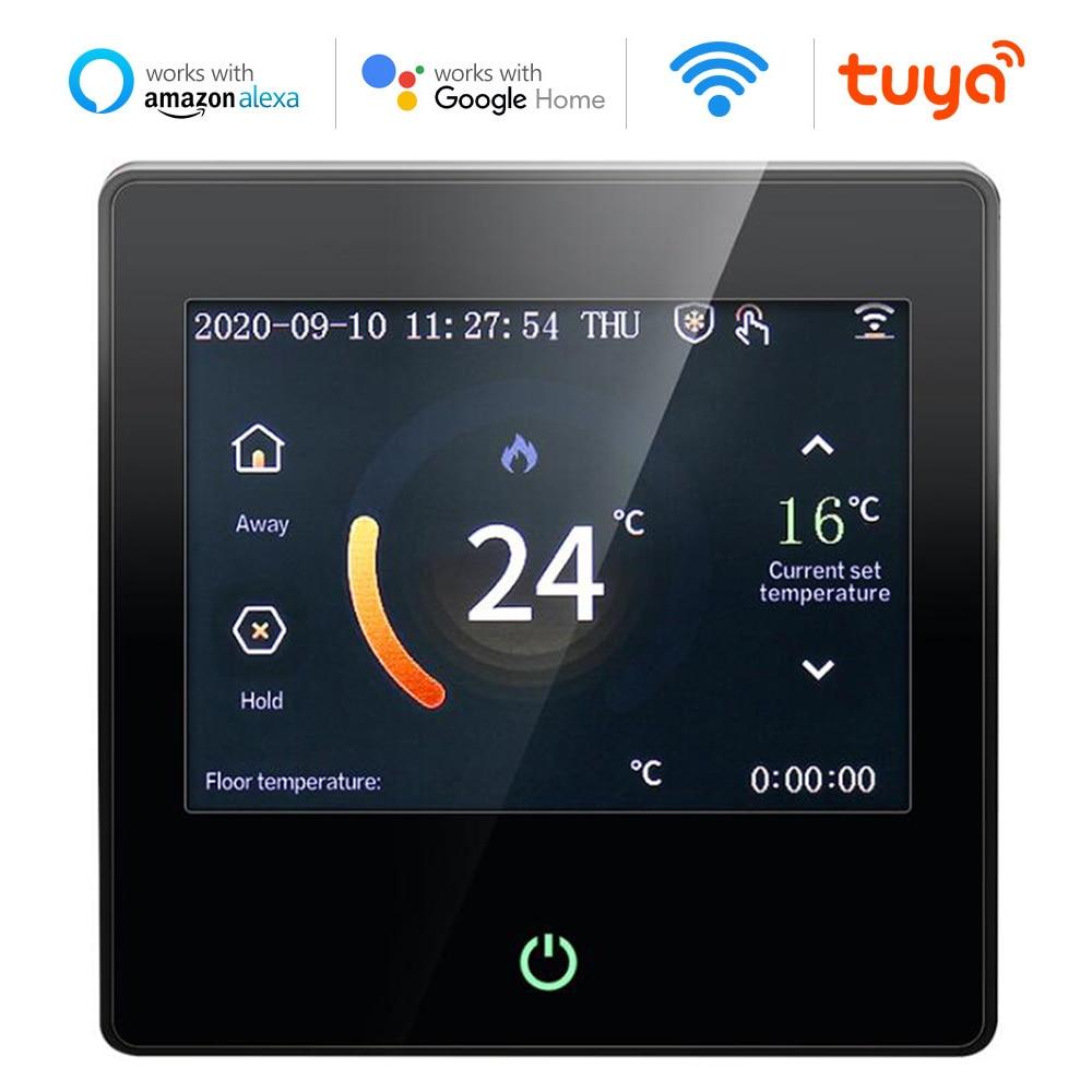 Tuya واي فاي منظم حراري ذكي التدفئة الكهربائية الكلمة الجدار معلق المرجل المنزل LCD اللمس درجة الحرارة التحكم عن بعد ل Alexa