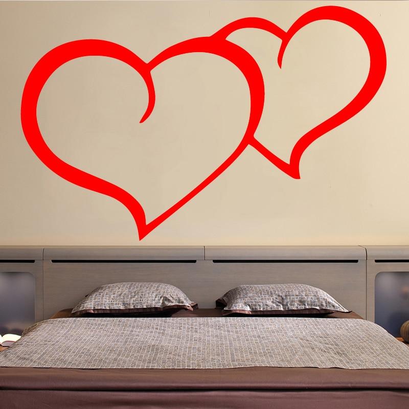 Corazón pegatina Para pared con patrón Para dormitorio decoración pegatinas vinilo resistentes...
