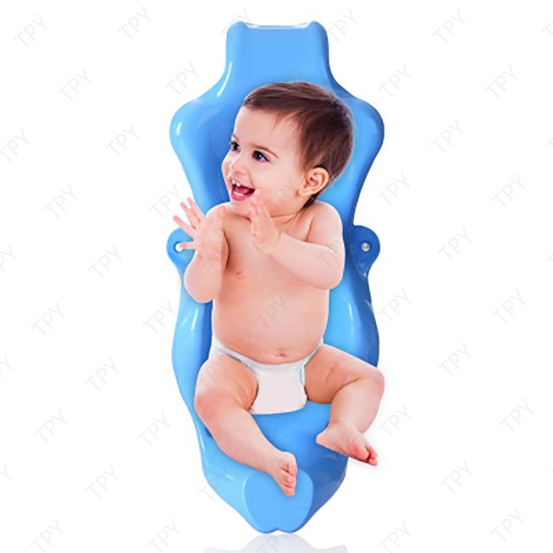 Soporte de asiento de baño para bebé, bañera antideslizante para recién nacidos, respaldo de reposacabezas blando de burbujas seguro para niños de 0 a 24 meses