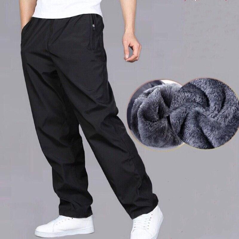Pantalones de chándal para hombre otoño invierno más pantalones terciopelo cálidos de secado rápido pantalones sueltos de verano resistentes al desgaste impermeable