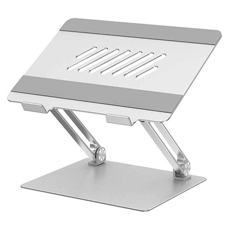 Suporte do Computador do Caderno Ergonômico do Computador de Alumínio Placa de Levantamento Ajustável do Portátil com Furos Suporte Refrigerando