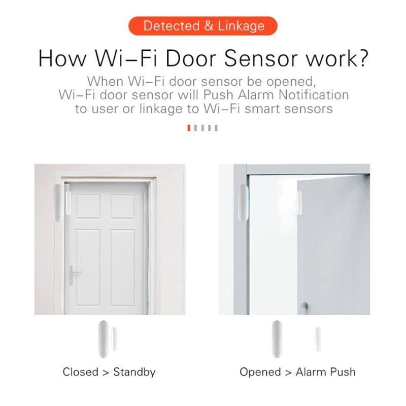 Capteur de Contact de fenetre de porte de maison intelligente alertes de Notification sans fil alarme de detecteur de securite materiel damelioration de la maison