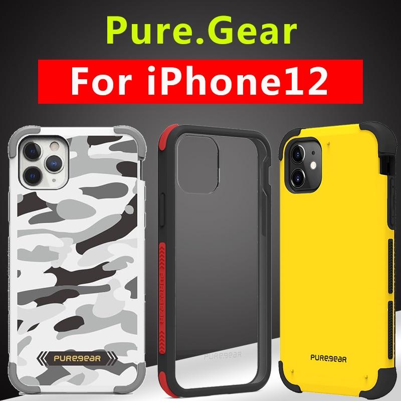 PureGear المعايير العسكرية لحقيبة الهاتف المحمية آيفون 12 mini 12 Pro Max حافظة مضادة للخبط واقية فاخرة