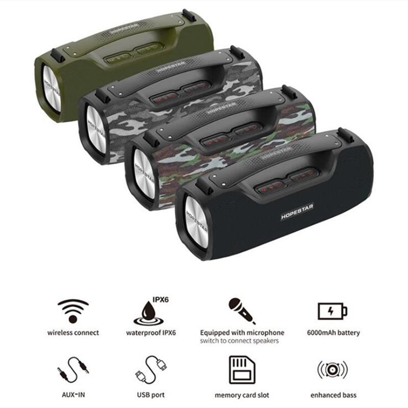 Review HOPESTAR A6pro 55W Ultra High Power Bluetooth Speaker with Microphone Subwoofer Family KTV Soundbox Portable Waterproof Soundbar