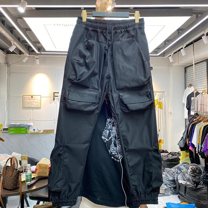 ثلاثية الأبعاد متعددة جيوب البضائع السراويل الرجال النساء ركض الرباط سستة Sweatpants المسار بنطلون الشارع ارتداء الرجال الملابس
