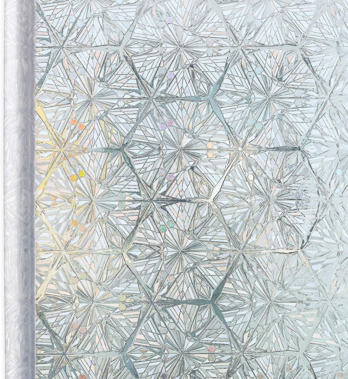Película de ventana de privacidad 3D cristal claro diamante decorativo autoadhesivo manchado pegatina para ventana de vidrio extraíble Anti UV película de vidrio