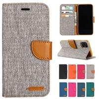 Джинсовой ткани, разные цвета, искусственная кожа, флип-кейс для iPhone 12 11 Mini Pro Max X XS XR XS Макс 5 5S SE 6 6S 7 8 плюс Чехол для телефона
