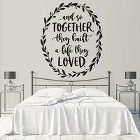 Mode amour autocollant mural amovible auto-adhesif Watercolo Pvc stickers muraux accessoires de decoration de la maison