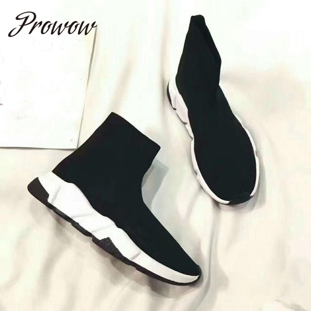 Prowow, botas de calcetín de alta calidad de nuevo diseñador para mujer, botas de entrenamiento transpirables de velocidad, zapatos de mujer