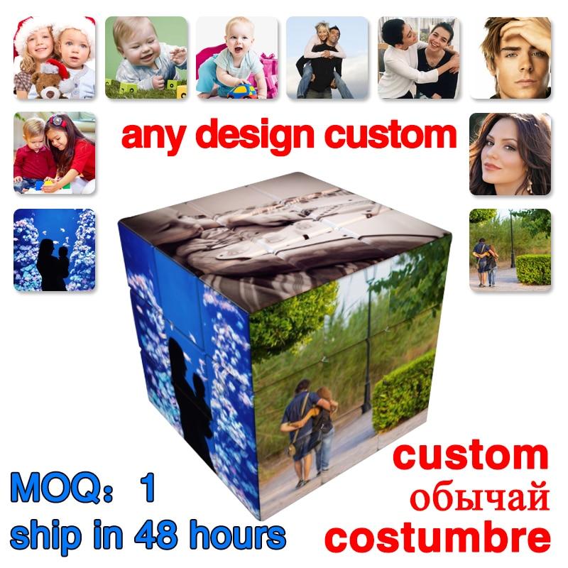 Персонализированный Магический кубик Cubo Magico 3x3x3, профессиональный кубик, пазлы со сказками скорости, без наклеек, игрушки на заказ, подарок