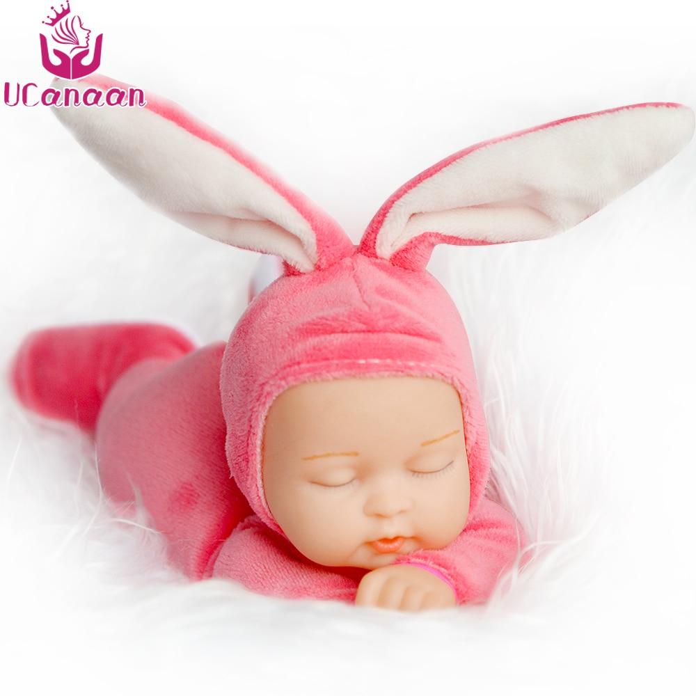 25 см Кролик плюшевая Мягкая Детская кукла имитация младенцев спящие куклы детские игрушки подарок на день рождения для малышей 5 цветов кук...