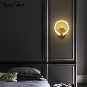 Modern Led Wall Lamp For Bedroom Living room Study room Bedside Light Copper Body Led Sconce Wall Light Gold Fixtures 110V 220V