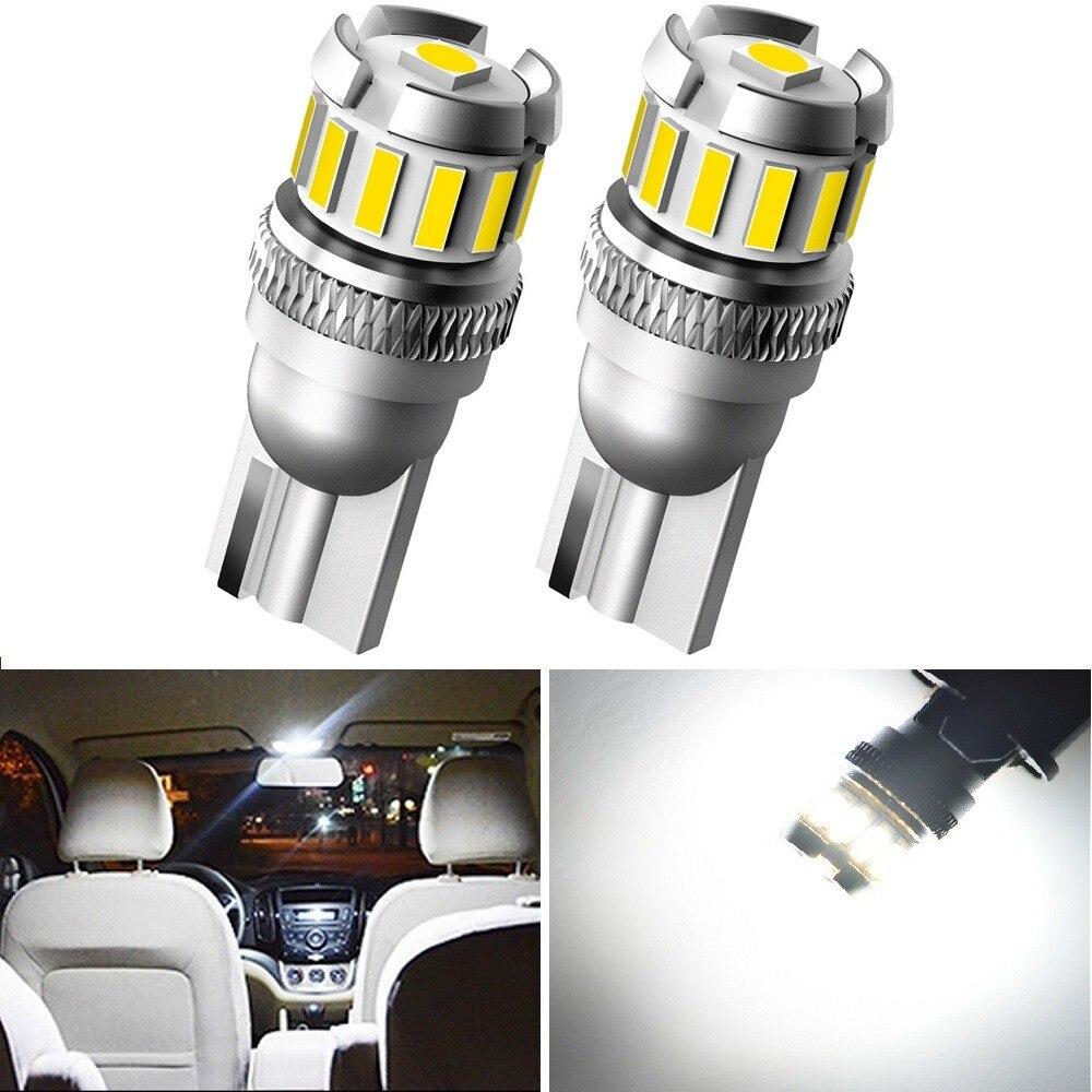 2 uds Canbus W5W LED T10 168, 194 LED Interior del coche luces de bulbo para Subaru Impreza Jeep Compass Isuzu DMAX Acura Jaguar XE XF Dodge