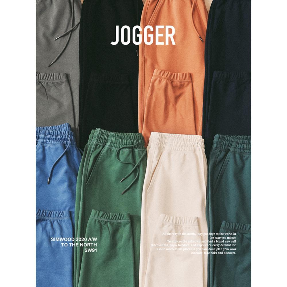 SIMWOOD 2021 Spring Winter New Jogger Pants Men Drawstring Trousers Casual Comfortable tracksuits plus size gym pants SJ130835