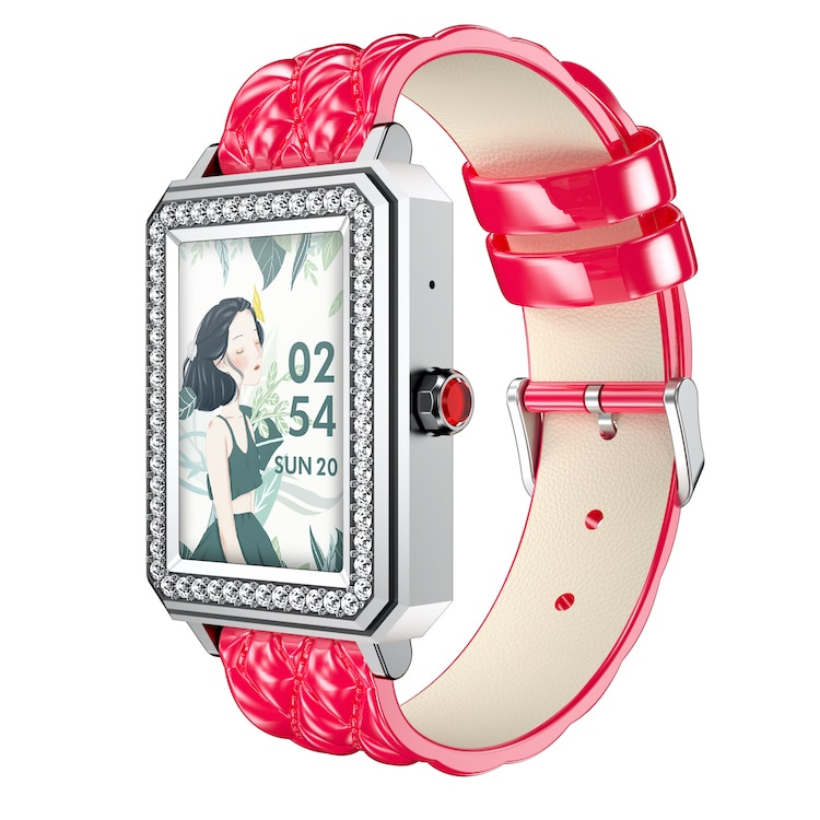 كريستال الماس نمط الذكية يمكن ارتداؤها الأجهزة الصحية واللياقة البدنية الادوات سوار المرأة ساعة معصم حزام لياقة BT دعوة