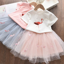 Cute Kids Dresses for Girls Chiffon Elegant Flower Princess Baby Girls Clothes Sweet Tutu Party Dres